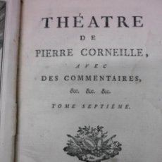 Libros antiguos: THEATRE DE PIERRE CORNEILLE, 1764, PIERRE CORNEILLE. CONTIENE 1 FRONTISPICIO Y 3 GRABADOS.. Lote 39540025