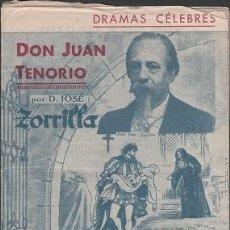 Libros antiguos: C12-DRAMAS CELEBRES - LIBRETO DE DON JUAN TENORIO - 12 PAGINAS - IMPRESO EN LOS T.G.V.F. ,. Lote 39581286