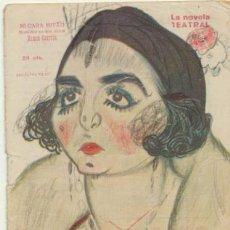 Libros antiguos: LA NOVELA TEATRAL Nº 179. MI CARA MITAD DE RAMOS CARRIÓN.. AÑO 1920.. Lote 178854191