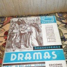 Libros antiguos: DRAMAS.--SHAKESPEARE (1ªPARTE)--1933. Lote 40363543