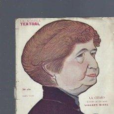 Libros antiguos: LA NOVELA TEATRAL, AÑO III, Nº 99, 1918, LA CIZAÑA, MANUEL LINARES RIVAS. Lote 181518556