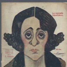 Libros antiguos: LA NOVELA TEATRAL, AÑO VI, Nº 228, 1920, JUDITH, FRANCISCO VILLAESPESA. Lote 40420925