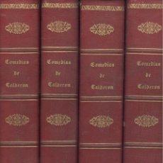 Libros antiguos: COMEDIAS DE PEDRO CALDERÓN DE LA BARCA. 4 VOLS. BAE. MADRID, 1849.. Lote 41000090