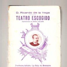 Libros antiguos: RICARDO DE LA VEGA TEATRO ESCOGIDO VIUDA DE HERNANDO Y COMPAÑIA MADRID 1894. Lote 41203167