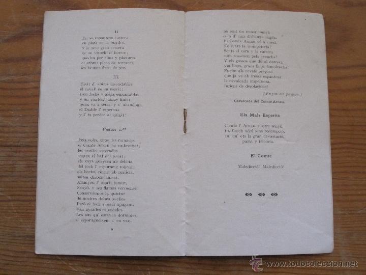 Libros antiguos: JOSEP CARNER - EL COMTE L'ARNAU. VISIO LLEGENDARIA - 1905 - TEXT DE MA DEL TEATRE PRINCIPAL GRANER - Foto 2 - 55947612