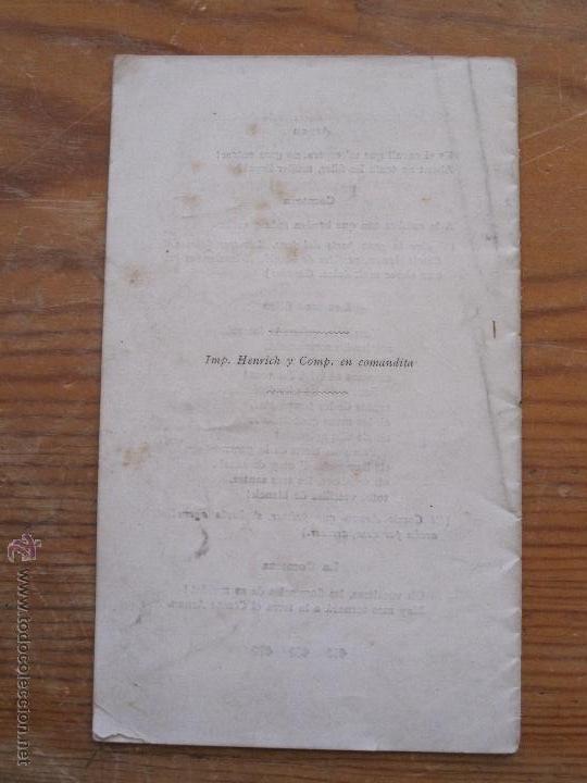 Libros antiguos: JOSEP CARNER - EL COMTE L'ARNAU. VISIO LLEGENDARIA - 1905 - TEXT DE MA DEL TEATRE PRINCIPAL GRANER - Foto 4 - 55947612