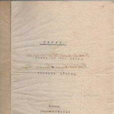 Libros antiguos: TONJO. DRAMO EN TRI AKTOJ, EN LINGVO ESPERANTO, DE TEODORO KÖRNER. TRADUKIS LEOPOLDO KITZLER (1914).. Lote 41597879