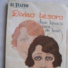 Libros antiguos: DIVINO TESORO. LUCA DE TENA, JUAN IGNACIO. 1927. Lote 42654990