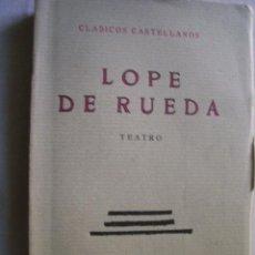 Libros antiguos: TEATRO: COMEDIA EUFEMIA; COMEDIA AURELINA; EL DELEITOSO. DE RUEDA, LOPE. 1934. Lote 42669439