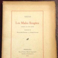 Alte Bücher - LES MALES LLENGÜES. Comèdia en cinc actes. - 43177211