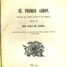 Libros antiguos: JUAN DE ARIZA : EL PRIMER GIRÓN (SALAMANCA, 1868). Lote 43475778
