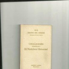 Libros antiguos: 1103.- TEMPORADA DE OPERA ITALIANA-TEATRO DEL BOSQUE 1919. Lote 43912020