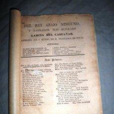 Libros antiguos: DEL REY ABAJO NINGUNO - AÑO 1800 - D.FRANCISCO DE ROJAS - MUY RARO.. Lote 44108286