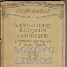 Libros antiguos: BJÖRNSON, BJÖRNSTJERNE. LABOREMUS. Lote 44048404