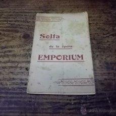 Libros antiguos: 1971.- SOLFA DE LA OPERA EMPORIUM-PARODIA-ENRIC MORERA-MARQUINA-. Lote 44795752