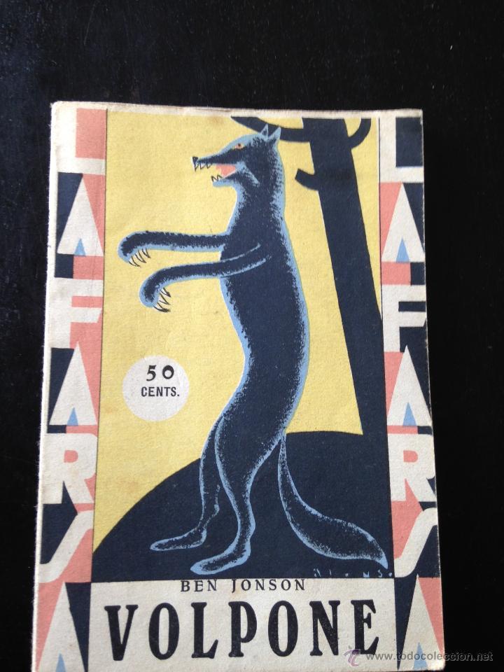 VOLPONE. BEN JONSON (Libros antiguos (hasta 1936), raros y curiosos - Literatura - Teatro)