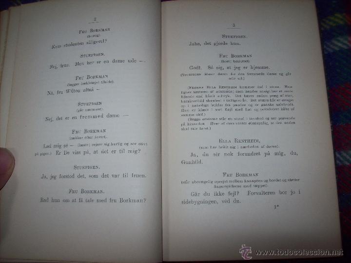 Libros antiguos: JOHN GABRIEL BORKMAN.HENRIK IBSEN.1896.ENCUADERNACIÓN DE LUJO.EDICIÓN BUSCADÍSIMA.UNA JOYA.VER FOTOS - Foto 5 - 45788283