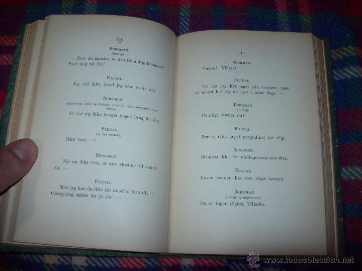 Libros antiguos: JOHN GABRIEL BORKMAN.HENRIK IBSEN.1896.ENCUADERNACIÓN DE LUJO.EDICIÓN BUSCADÍSIMA.UNA JOYA.VER FOTOS - Foto 8 - 45788283