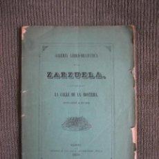 Libros antiguos: NARCISO SERRA. LA CALLE DE LA MONTERA. 1859. Lote 47135553