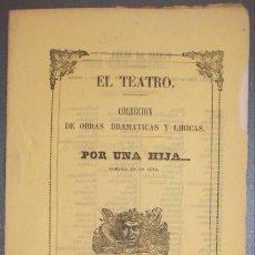 Libros antiguos: BRETON DE LOS HERREROS, MANUEL: ¡POR UNA HIJA!... COMEDIA. 1856. Lote 47382443