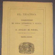 Libros antiguos: BRETON DE LOS HERREROS, MANUEL: EL ABOGADO DE POBRES. 1866. PRIMERA EDICIÓN. Lote 47382633
