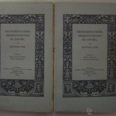 Libros antiguos: REPRESENTACIONES SHAKESPEARIANAS EN ESPAÑA. POR ALFONSO PAR. 2 VOLUMENES.1936. Lote 47754128