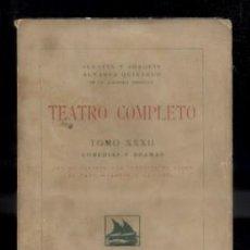 Libros antiguos: TEATRO COMPLETO. TOMO XXXII. COMEDIAS Y DRAMAS. ALVAREZ QUINTERO, S. Y J. A-QUINTERO-0062. Lote 48757369