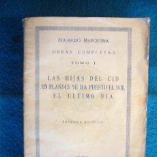 Libros antiguos: EDUARDO MARQUINA: - OBRAS COMPLETAS - (TOMO I) (MADRID, 1935). Lote 49709161
