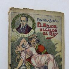 Libros antiguos: L- 1787. EL MEJOR ALCALDE EL REY. LOPE DE VEGA. BIBLIOTECA SELECTA. NUM. 2. 1926. . Lote 49870177