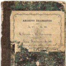 Libros antiguos: DON RICARDO Y DON RAMÓN - DE RAMÓN MEDEL - JUGUETE CÓMICO EN UN ACTO Y EN VERSO - AÑO 1869. Lote 50361594