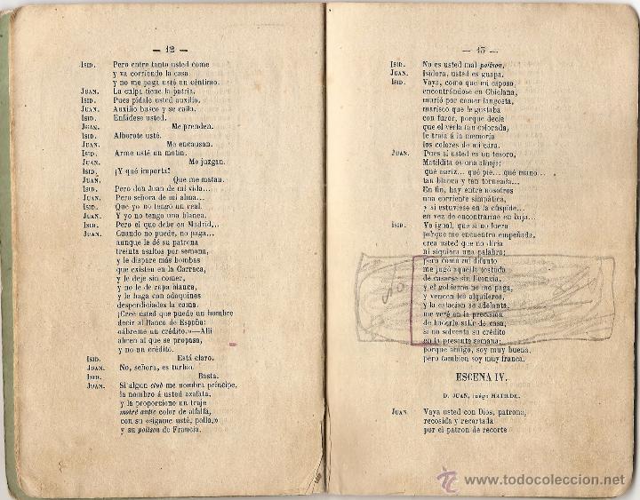 Libros antiguos: DON RICARDO Y DON RAMÓN - DE RAMÓN MEDEL - JUGUETE CÓMICO EN UN ACTO Y EN VERSO - AÑO 1869 - Foto 4 - 50361594