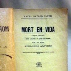 Libros antiguos: TEATRO, MORT EN VIDA, CHOGUET CÓMIC-LÍRIC, RAFEL GAYANO LLUCH, FOLLETÍ DE LA TRACA, VALENCIA, 1912. Lote 51524911