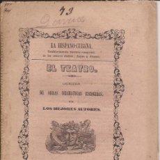 Libros antiguos: DON BERNARDO DE CABRERA / EL TEATRO / COLECCION DE OBRAS DRAMÁTICAS ESCOGIDAS / 1850. Lote 51671379