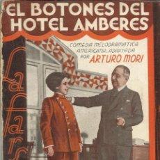 Libros antiguos: EL BOTONES DEL HOTEL AMBERES. LA FARSA. MADRID. 1932. Lote 52334976