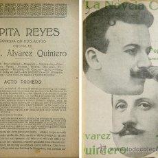 Libros antiguos: ÁLVAREZ QUINTERO, SERAFÍN Y JOAQUÍN. PEPITA REYES. [LA NOVELA CORTA] 1916.. Lote 52363278