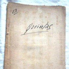 Libros antiguos: LAS QUINTAS. FRANCISCO PEREZ 1870 TEATRO DE LOPE DE RUEDA IMPRENTA DE JOSÉ RODRÍGUEZ, MADRID. Lote 52535757