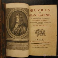 Libros antiguos: OEUVRES DE JEAN RACINE, 1779. Lote 53338799
