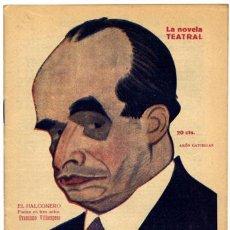 Libros antiguos: VILLAESPESA, FRANCISCO. EL HALCONERO. 1921.. Lote 53675029