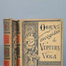 Libros antiguos: 1894.- OBRAS ESCOGIDAS DE VENTURA DE LA VENGA. ED. MONTANER Y SIMON. ILUSTRADO. 2 TOMOS. Lote 53744799