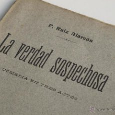 Libros antiguos: LA VERDAD SOSPECHOSA - JUAN RUIZ DE ALARCÓN Y MENDOZA 1914. Lote 53852913