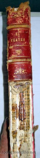 Libros antiguos: El Teatro, publicación mensual, año 1903, de enero a diciembre, encuadernados. - Foto 2 - 53872011