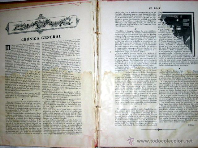 Libros antiguos: El Teatro, publicación mensual, año 1903, de enero a diciembre, encuadernados. - Foto 3 - 53872011