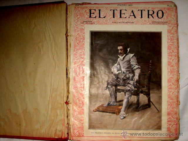 Libros antiguos: El Teatro, publicación mensual, año 1903, de enero a diciembre, encuadernados. - Foto 4 - 53872011