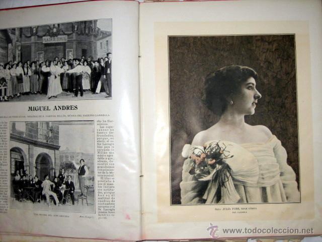 Libros antiguos: El Teatro, publicación mensual, año 1903, de enero a diciembre, encuadernados. - Foto 5 - 53872011