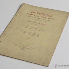 Libros antiguos: EL VECTIGAL DE LA CARN - MANEL RIBOT I SERRA 1888. Lote 54098191