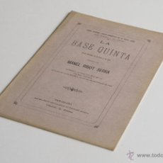 Libros antiguos: LA BASE QUINTA - MANEL RIBOT Y SERRA 1884. Lote 54098291