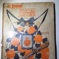 Libros antiguos: JUAN DE MAÑARA. 1928. MANUEL Y ANTONIO MACHADO EL TEATRO MODERNO, Nº 113.. Lote 62811188