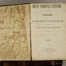 Libros antiguos: 7004 - COLECCION DE COMEDIAS ESCOGIDAS,TOMO I Y II(V. DESCRIP). EDI. VIDAL Y COMP. 1863/64.. Lote 52388355
