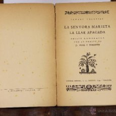 Libros antiguos: 6150 - LA SENYORA MARIETA LA LLAR APAGADA. IG. IGLESIAS. EDI. MENTORA. 1870.. Lote 49227459