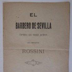 Libros antiguos: EL BARBERO DE SEVILLA - VIGO 1899. Lote 55029502